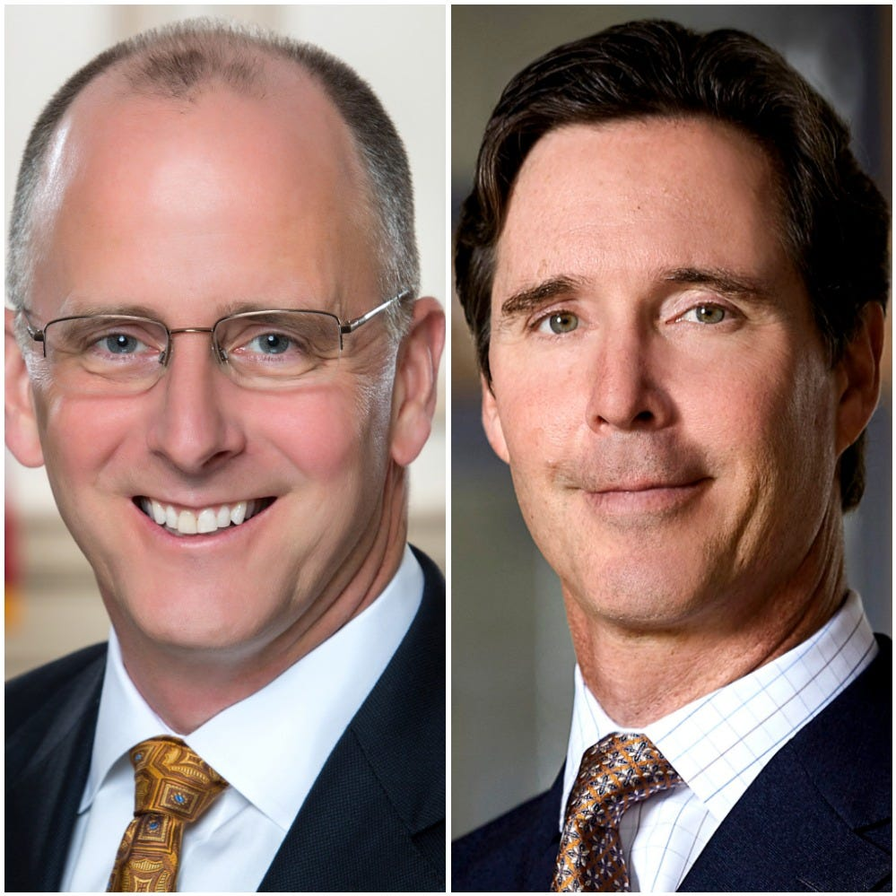 State Sen. Greg Lavelle and state Treasurer Ken Simpler are the subjects of a campaign finance complaint lodged Oct. 15 by the Delaware Democratic Party.