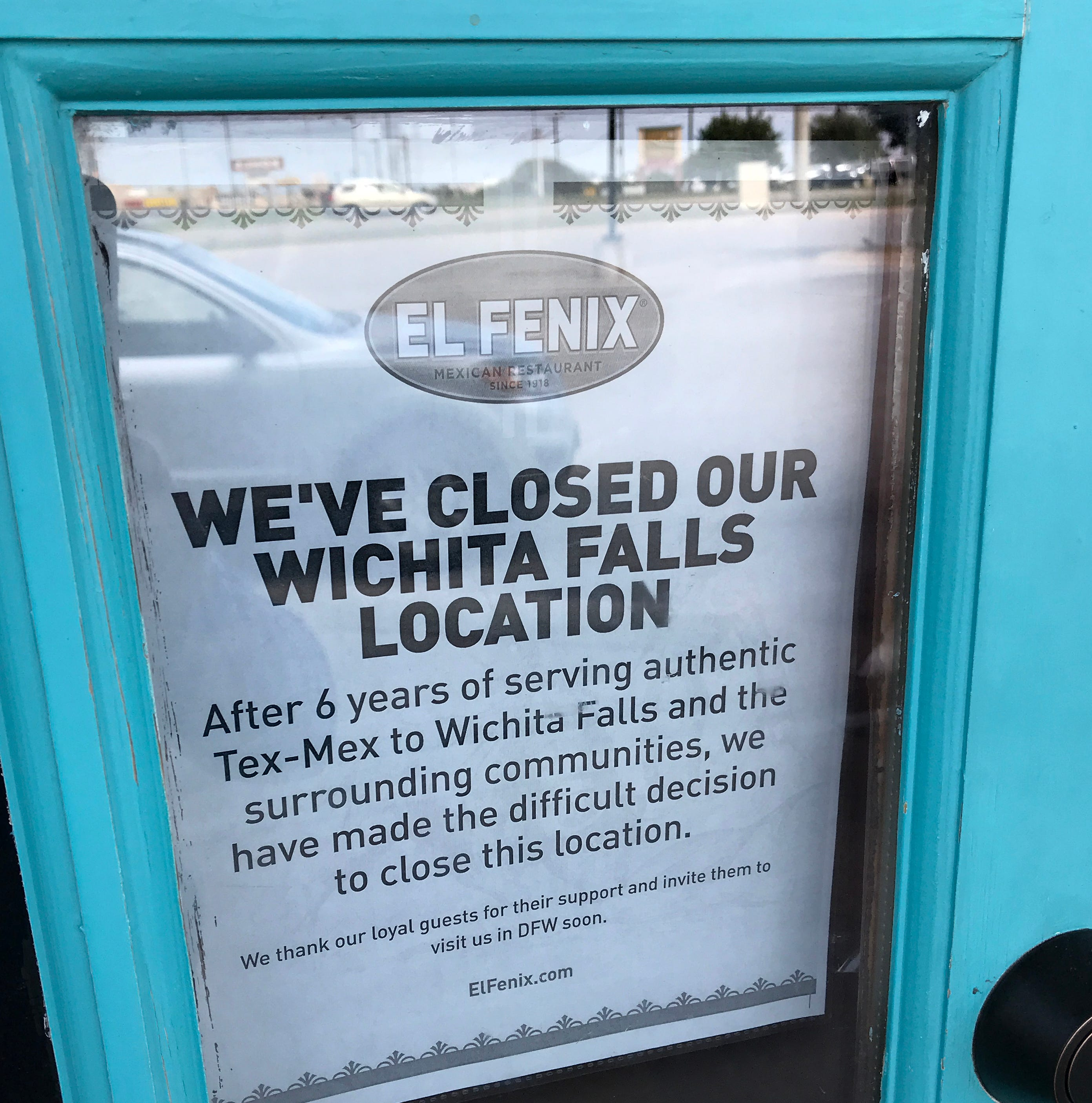 El Fenix closes Wichita Falls restaurant suddenly over weekend