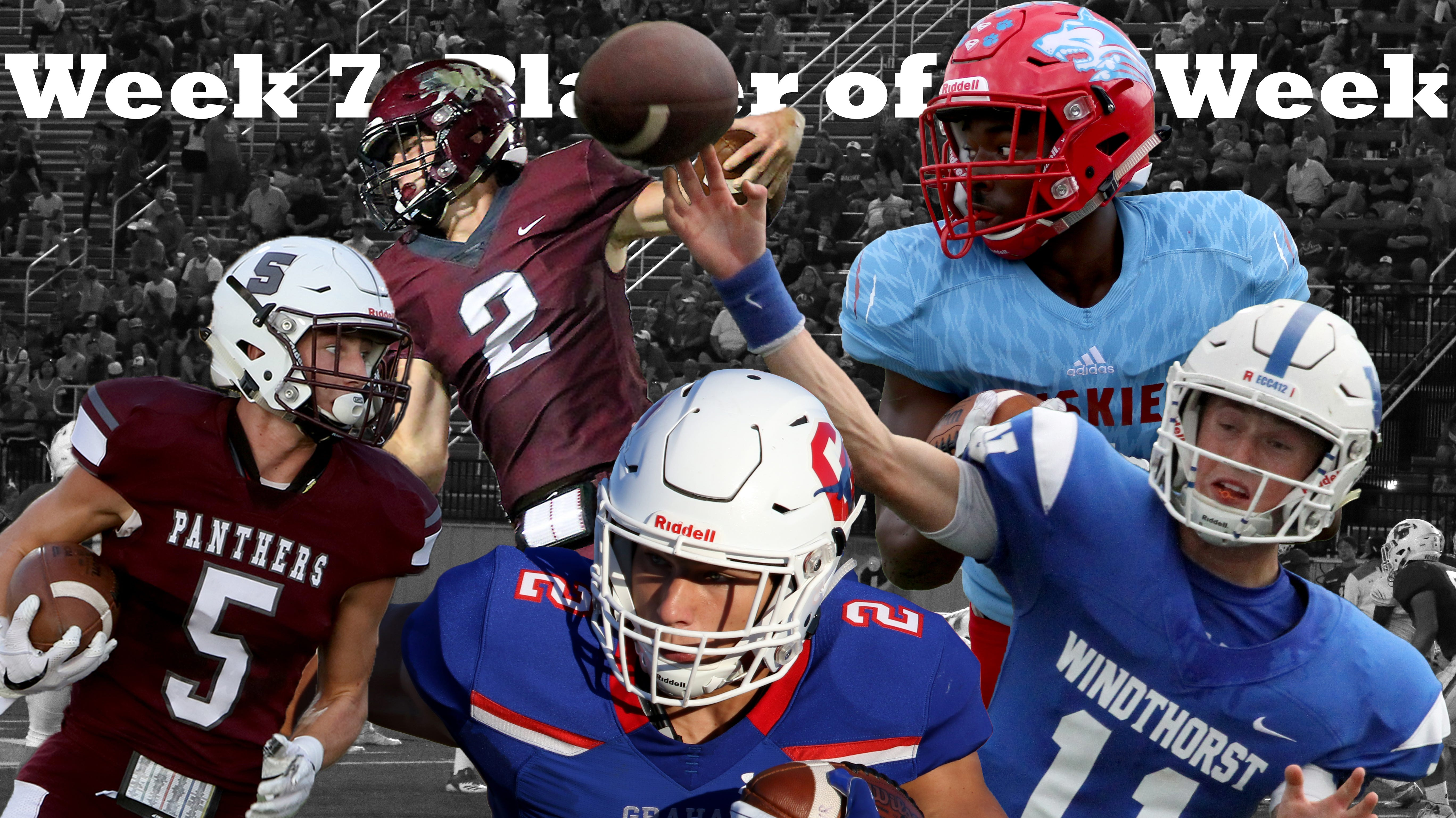 Week 7 nominees for Player of the Week are Seymour Garrett Siegert, Vernon's B.T. White, Graham's Chase Gilmore, Hirschi's Daimarqua Foster and Windthorst's Hunter Wolf.
