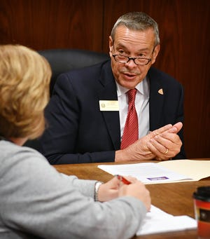 Wichita County Precinct 4 Commissioner Jeff Watts is running for re-election and met with the Times Record News Editorial Board Monday.