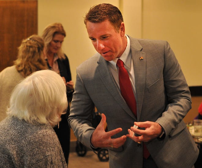 District 30 Texas House Representative, Pat Fallon spoke to the Wichita County Republican Women Monday morning during a luncheon held at Luby's Cafeteria.