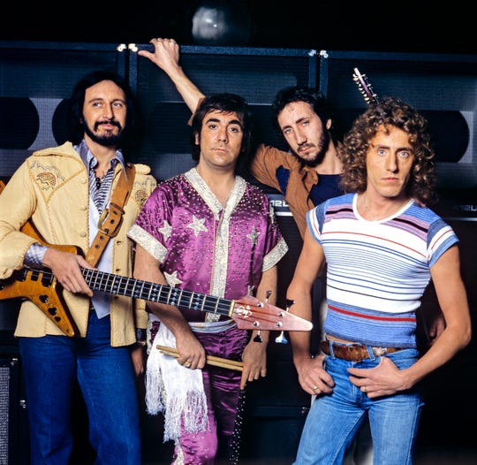 The Who in 1977:  (L-R)  John Entwistle, Keith Moon, Pete Townshend and Roger Daltrey.