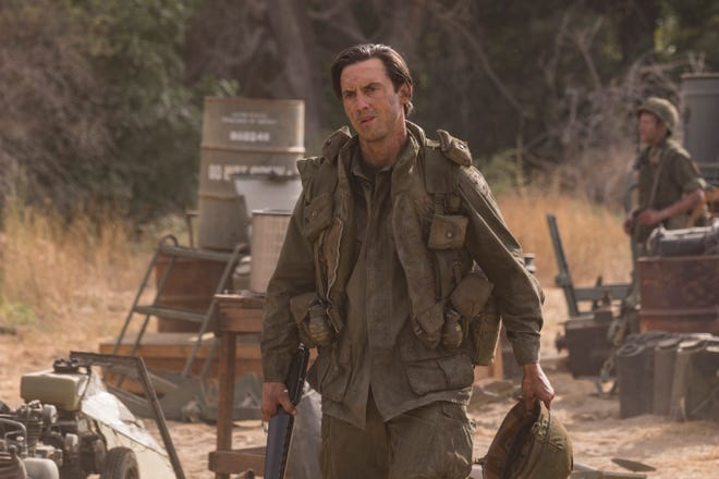 In this exclusive photo, Jack Pearson (Milo Ventimiglia) arrives at a U.S. Army camp in 1971 during Tuesday's 'Vietnam' episode of NBC's 'This Is Us.'