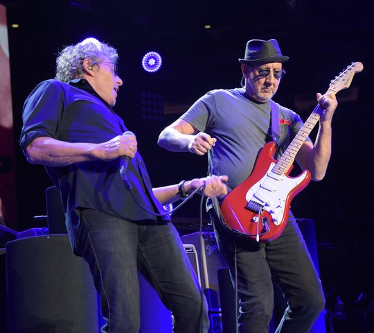 Roger Daltrey, left, and Pete Townshend of The Who In Concert at Madison Square Garden on March 3, 2016, in New York City.