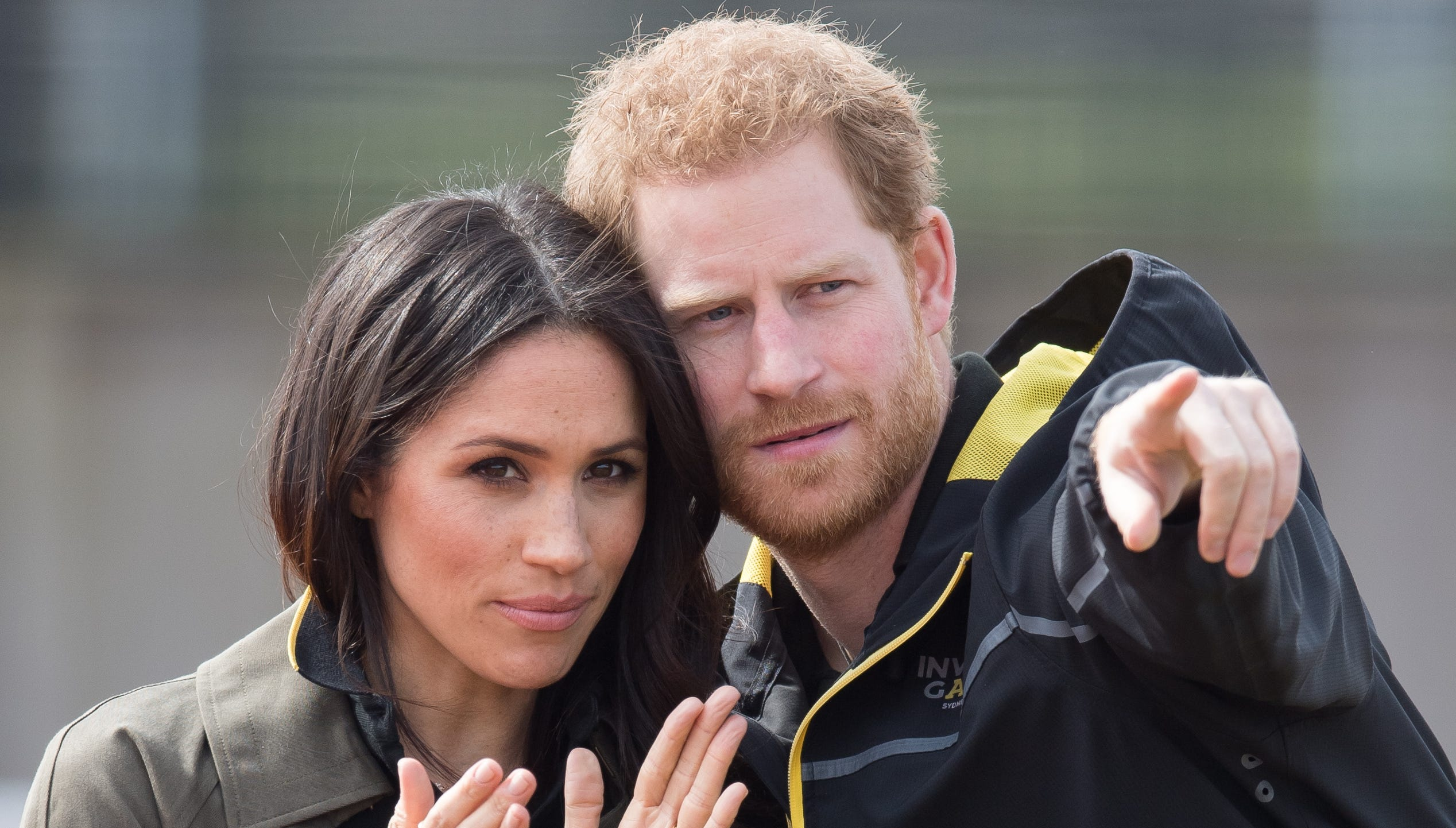BATH, ENGLAND - APRIL 06:  Prince Harry and Meghan Markle attend the UK Team Trials for the Invictus Games Sydney 2018 at University of Bath on April 6, 2018 in Bath, England.  (Photo by Samir Hussein/WireImage) ORG XMIT: 775147790 ORIG FILE ID: 942779182