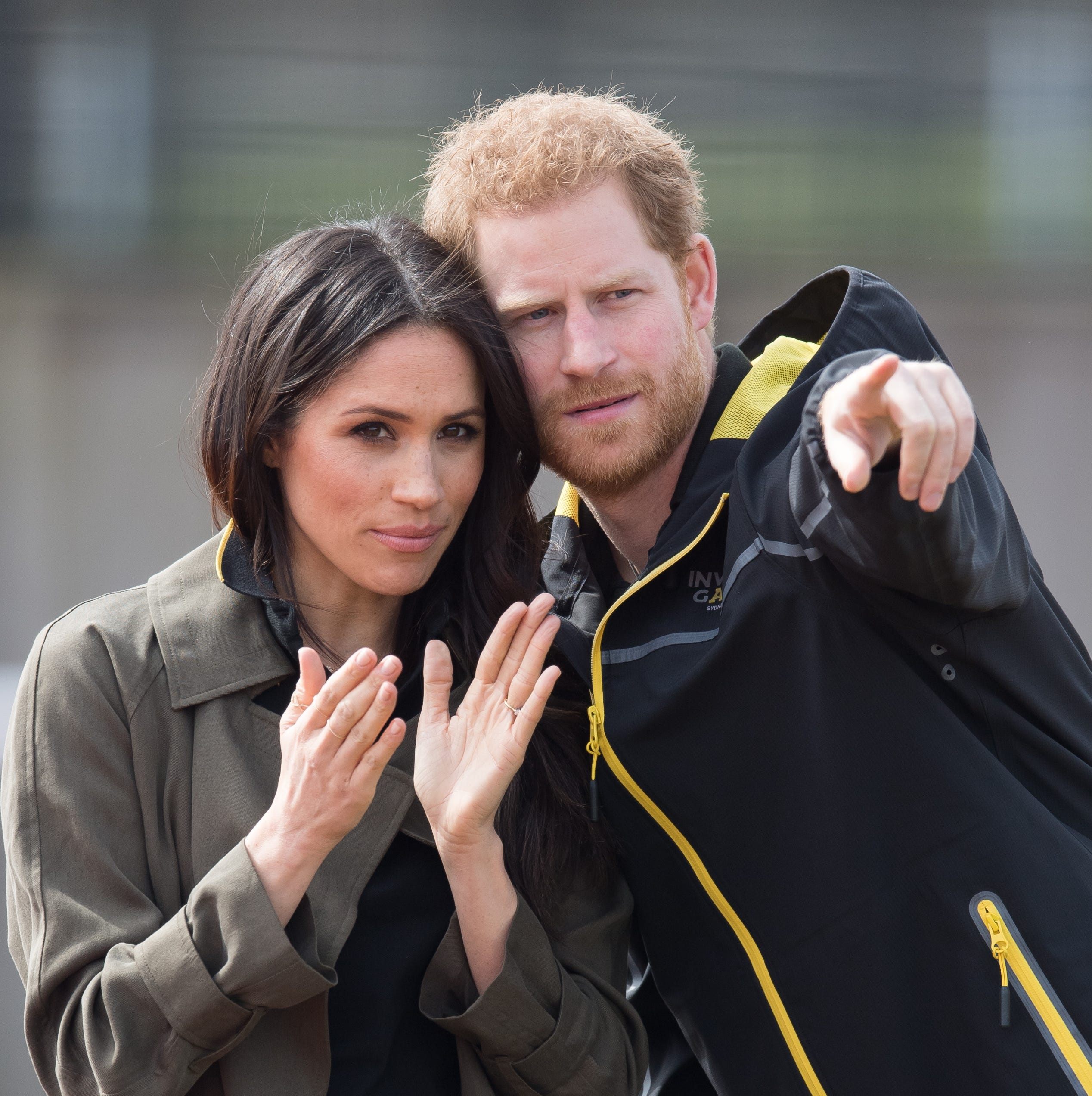 Prince Harry and Meghan Markle attend the UK Team Trials for the Invictus Games Sydney 2018 at University of Bath on April 6 in England.