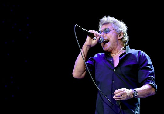 Roger Daltrey, seen performing with The Who in 2016 at Desert Trip, performed the music of The Who with Who members John Entwistle on bass and Zak Starkey on drums at the McCallum Theatre two decades before Desert Trip.