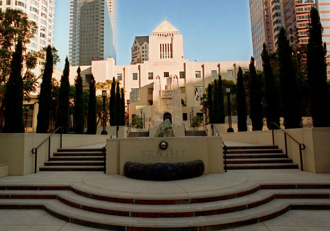 The Los Angeles Central Library, in a  1993 file photo. The library is the subject of Susan Orlean's new book.