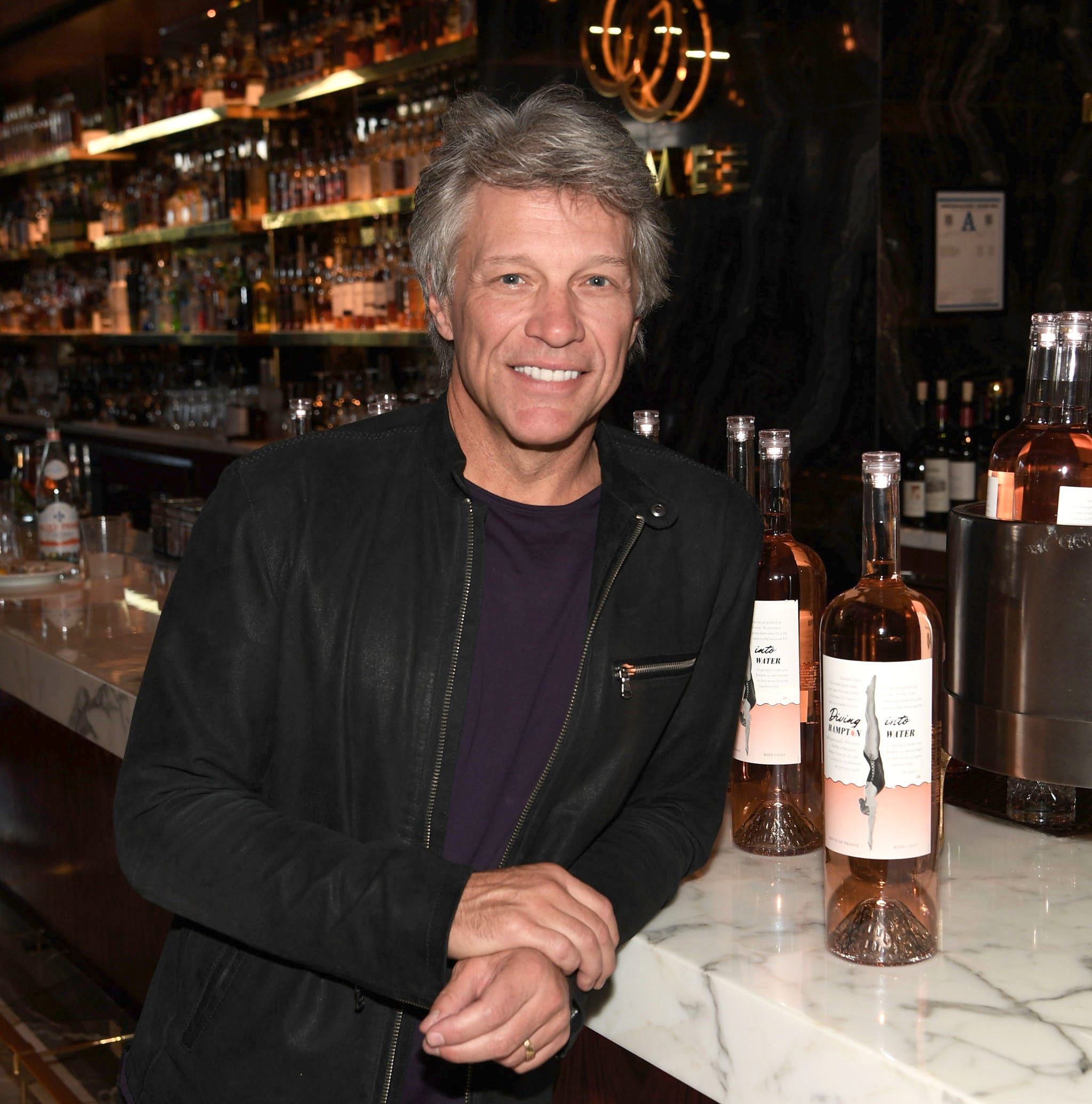 "Jon Bon Jovi  will headline two Norwegian cruise sailings in 2019. Here, he attends Scotch 80 Prime ""Diving Into Hampton Water"" Rose brunch at Palms Casino Resort on September 23, 2018 in Las Vegas, Nevada."