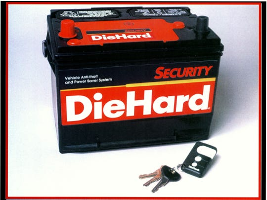 The DieHard Security Battery is the only battery on the market that combines an immobilizing system to help prevent a vehicle from being stolen and a power management system that ensures the owner will always have enough power to start the vehicle, even if the lights or any other accessory is left on. --- DATE TAKEN: rcvd 11/99  No Byline  NoCredit        HO      - handout ORG XMIT: PX9863