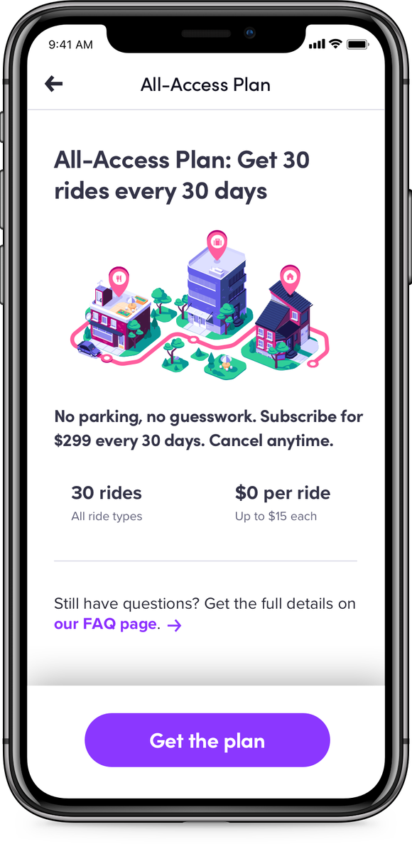 Lyft's new All-Access subscription plan
