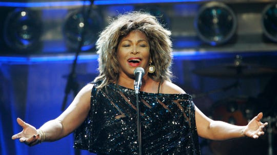 Tina Turner performs at The Sprint Center in Kansas City, Mo., on Oct. 1, 2008.