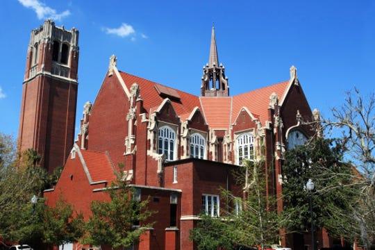 University of Florida Campus Historic District: Century Tower and University Auditorium, Gainesville, Florida.