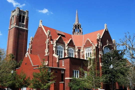 University of Florida Campus Historic District: Century Tower and University Auditorium, Gainesville, Florida.