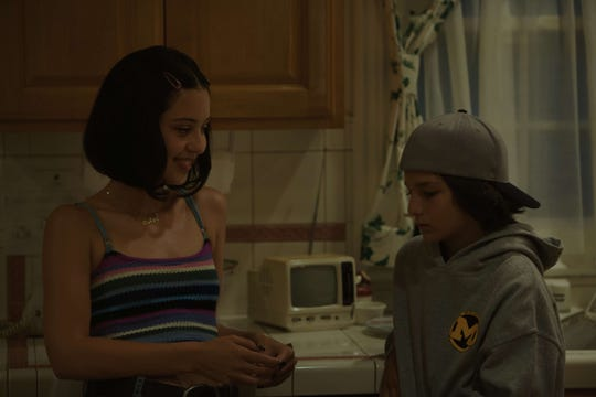 "Sunny Suljic, right, Alexa Demie in ""Mid90s."""
