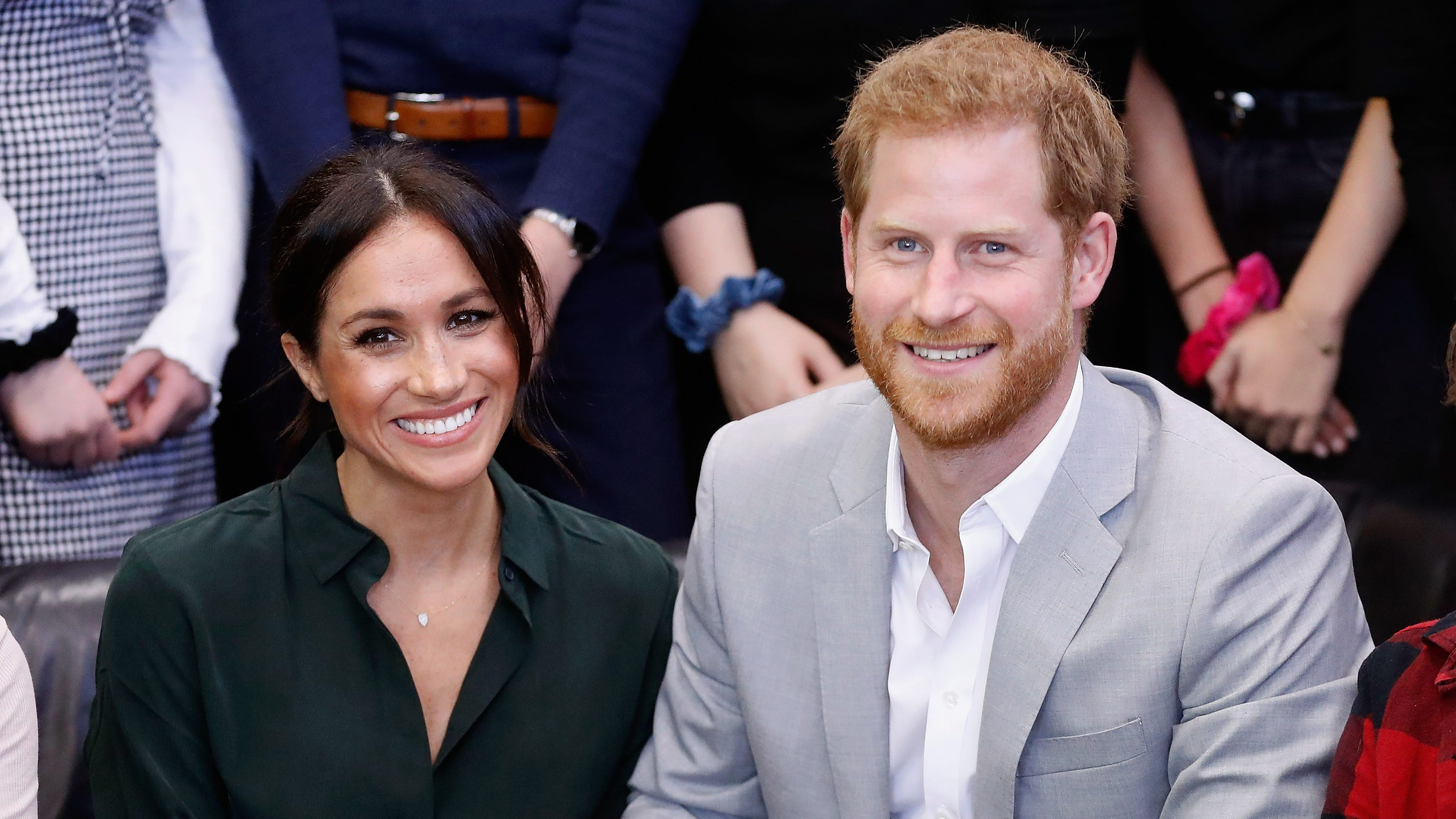 Prince Harry Meghan Markle Pregnant William Kate Twitter React Andrew Smith Slim Fit Chinos Navy 33