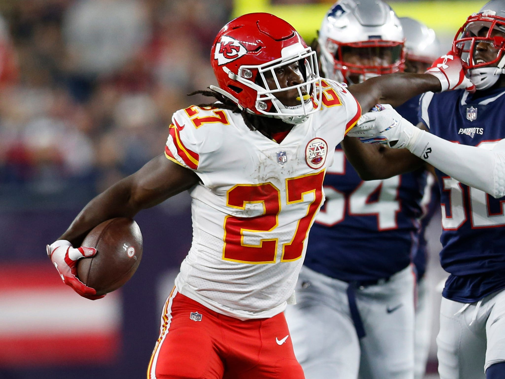 Chiefs running back Kareem Hunt