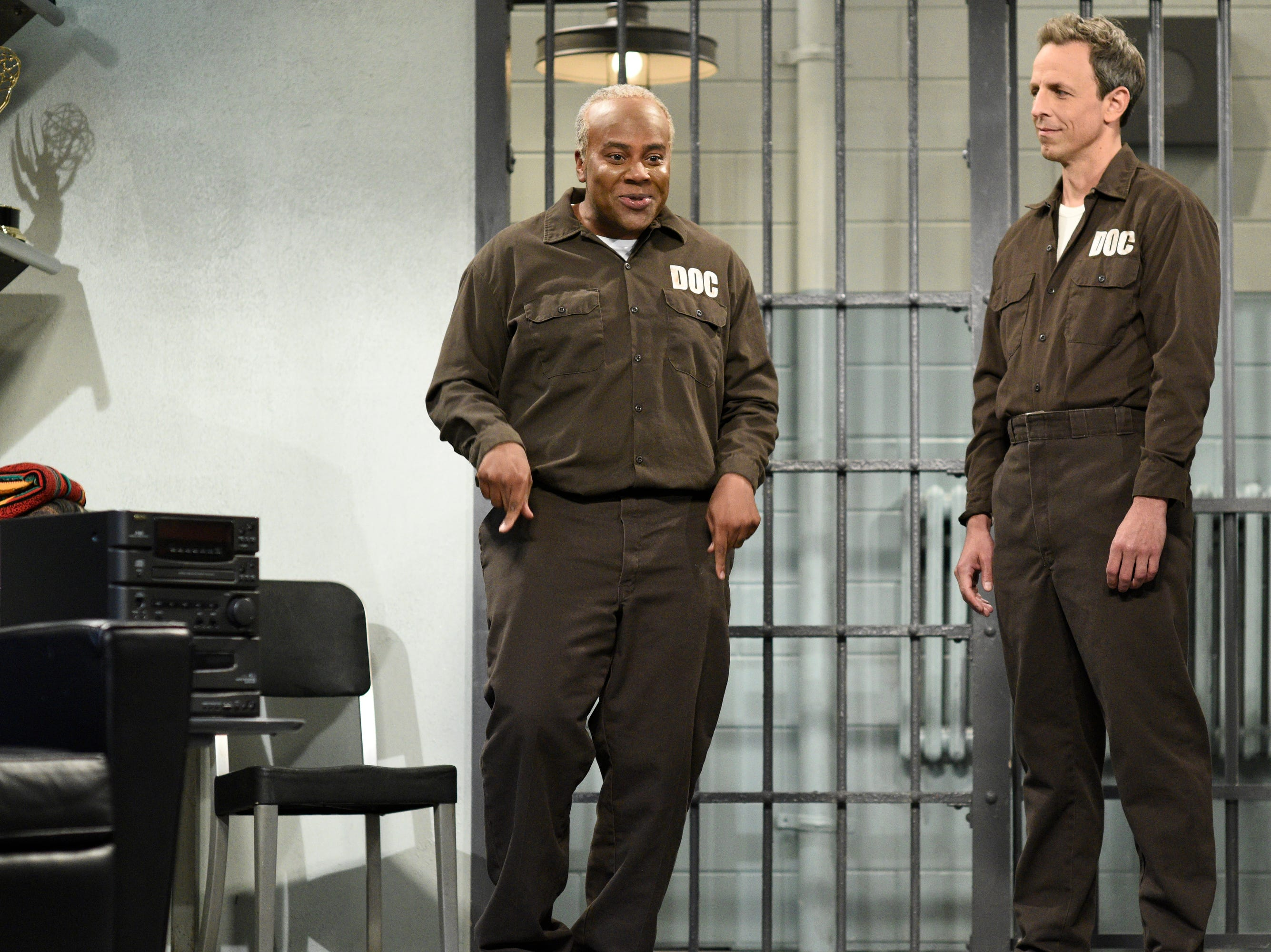 "Meyers, who rarely appeared in acted sketches when he was on ""SNL,"" popped up in a few as the guest host, including this one where he played a prisoner who resisted the offers of friendship from new cellmate Bill Cosby (Kenan Thompson).  ""How come every time I offer to mentor someone, it always ends up turning on me?""  the older man asked."