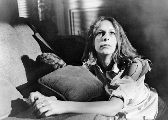 "Laurie Strode (Jamie Lee Curtis) stood her ground against pure evil in the original 1978 ""Halloween."""