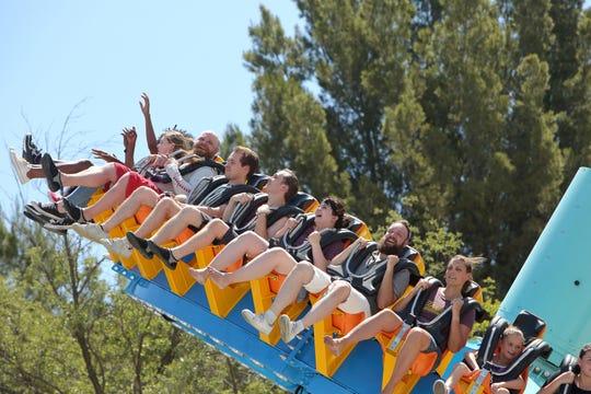 Pandemonium, a pendulum ride at Six Flags Over Georgia in Austell, will climb 15 stories.