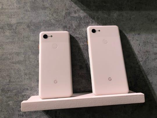 Rear of Google's Pixel 3 and Pixel 3 XL phones.