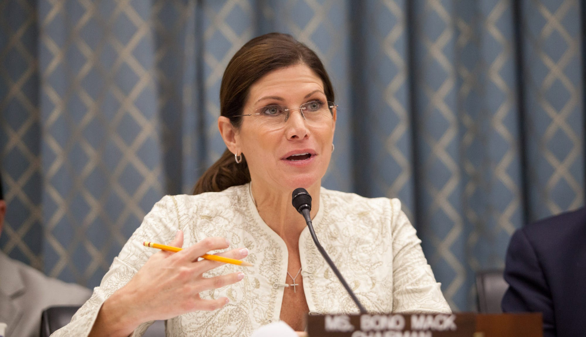 Former Congresswoman Mary Bono has been named interim CEO and president of USA Gymnastics.