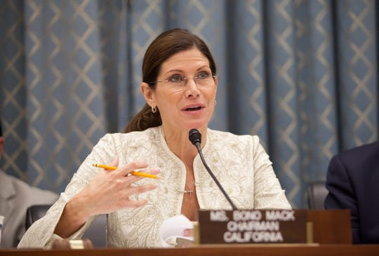 Former Congresswoman Mary Bono resigned as interim CEO and president of USA Gymnastics on Oct. 16, 2018. - USOC Begins Process Of Revoking USA Gymnastics' Status