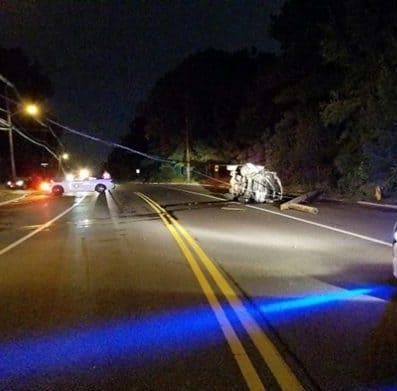 Lacey teen injured after smashing car into utility pole in Toms River