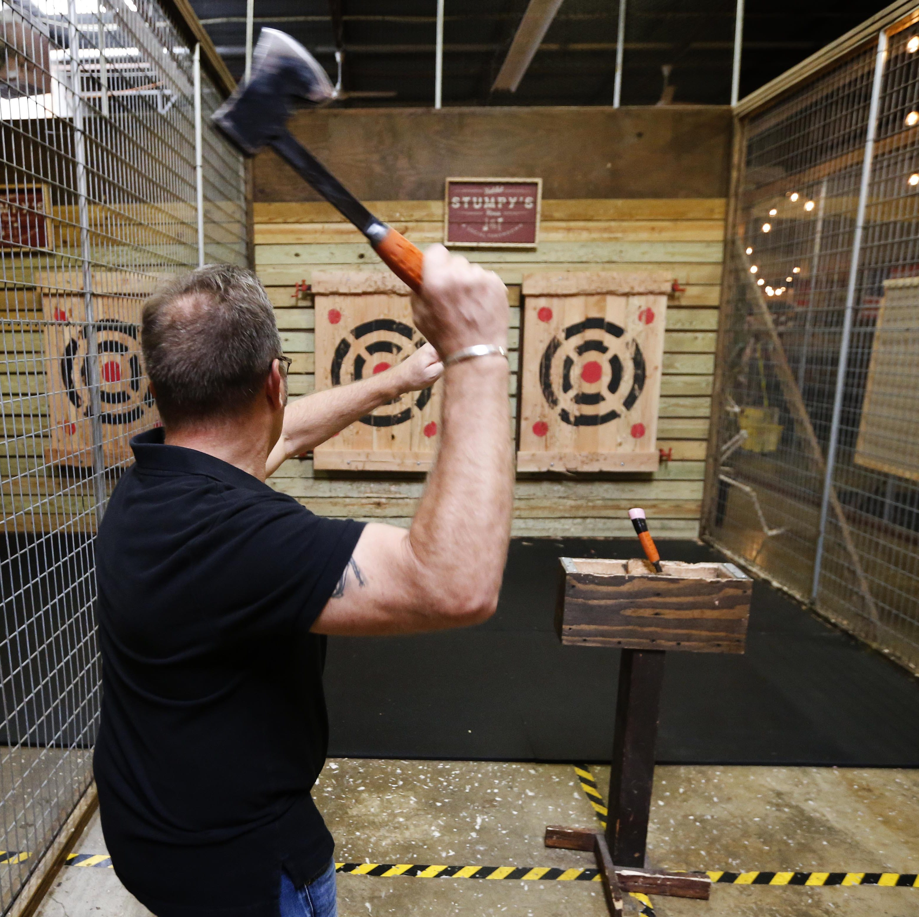 Stumpy's Hatchet House: From school principal to throwing axes for fun