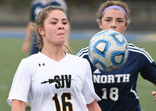 St. John Vianney Girls Soccer takes on Toms River North on 10/16/2018