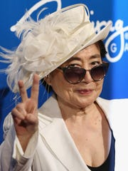 "Artist/singer Yoko Ono attends the 10th anniversary celebration of ""The Beatles LOVE by Cirque du Soleil"" at The Mirage Hotel & Casino on July 14, 2016 in Las Vegas, Nevada."