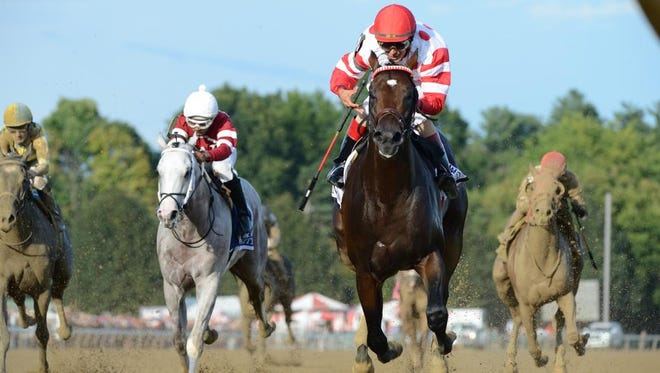 Mind Control wins the Hopeful Stakes at Saratoga on Sept. 3.