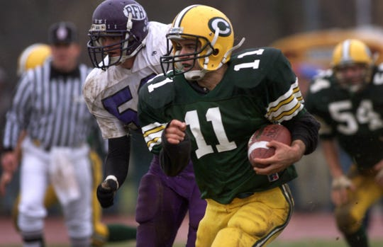 Red Bank Red Bank Catholic's James Strada runs in open field past Rumson's Garrett Golden as he heads for a second half touchdown in the 1999 meeting.