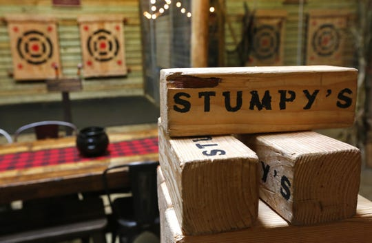 Throwing sections at Stumpy's Hatchet House in Eatontown.  A Stumpy's Hatchet House will open in the Greenleaf shopping center in Delran this spring.
