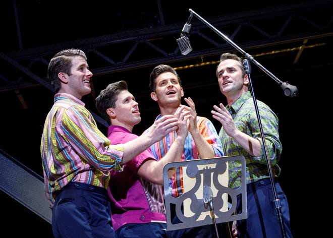 """""""Jersey Boys,"""" the musical telling of the story of the pop group the Four Seasons, featuring Frankie Valli, will be performed twice at the Abilene Convention Center this weekend."""