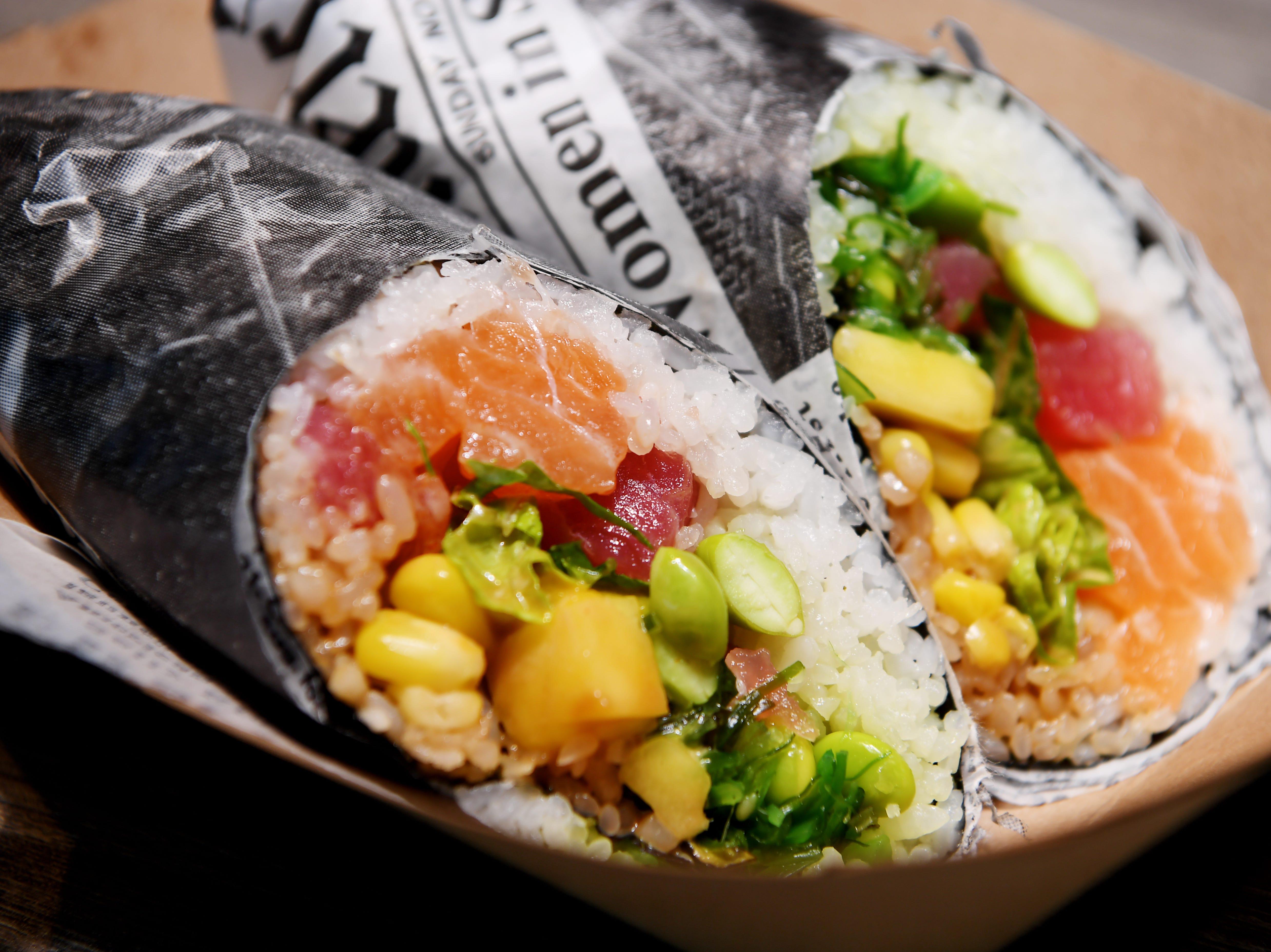 The signature Yum's Classic at Yum Sushi and Poke's in Arden comes with diced Ahi tuna, salmon, seaweed salad, mango, edamame, sweet corn, sriracha aioli and unagi sauce.