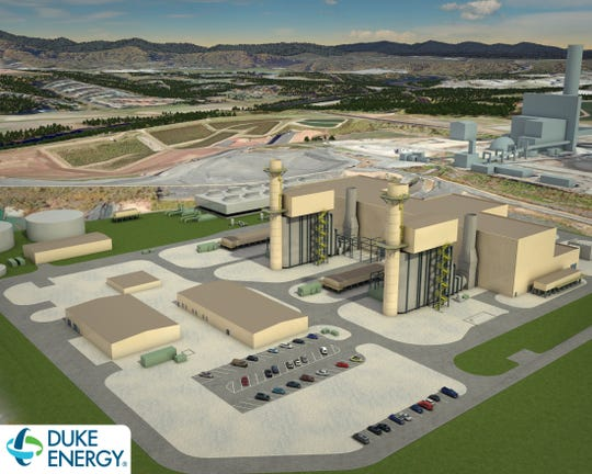 A rendering of Duke Energy's combined cycle plant in Arden. The $893 million plant is expected to open in late 2019.