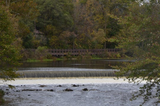The Linear Park Trail near the Verona Dam. The municipally-owned trail is part of a network that makes up the nation's longest trail (North Country) and the longest state-designated trail (Iron Belle).