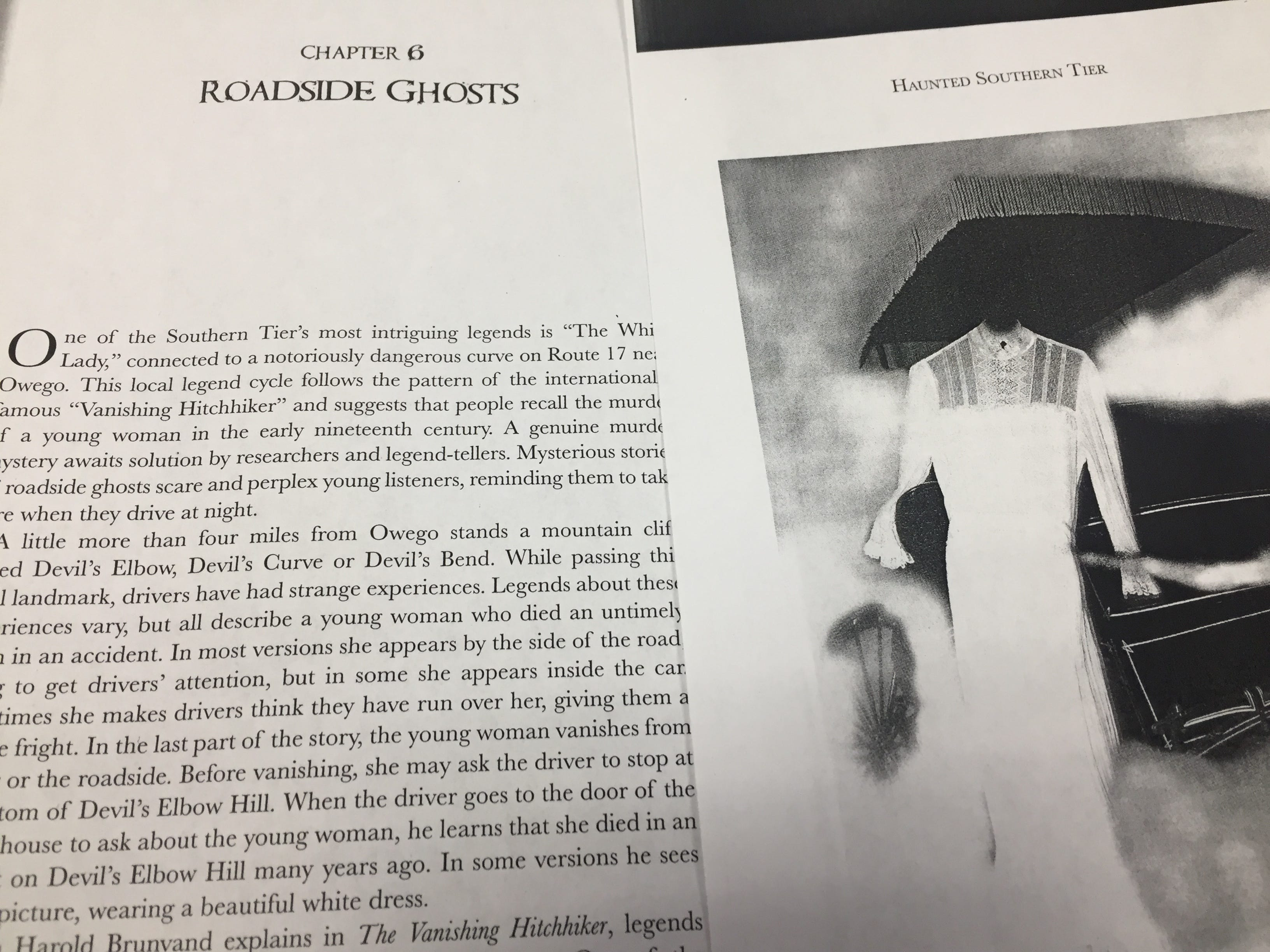 """Elizabeth Tucker, a professor at Binghamton University, documented ghost stories about the """"Lady in White of Devil's Elbow"""" for her book, """"Haunted Southern Tier."""""""