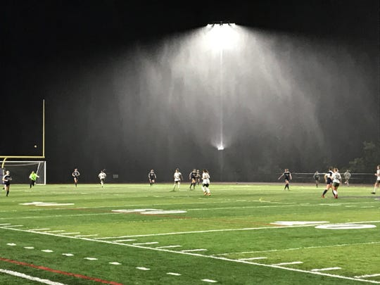 Chenango Forks and Vestal played through some nasty conditions during their 1-1 tie in the STAC final Monday night at Forks.