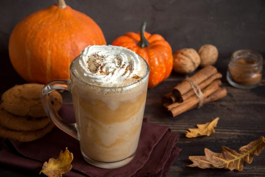 The temperatures outside may not say fall yet, but a pumpkin spice latte, sipped in air conditioning, of course, is in keeping with the season.