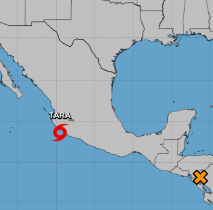 Disturbance near Honduras has 40% chance of formation as Tropical Storm Tara nears Mexico