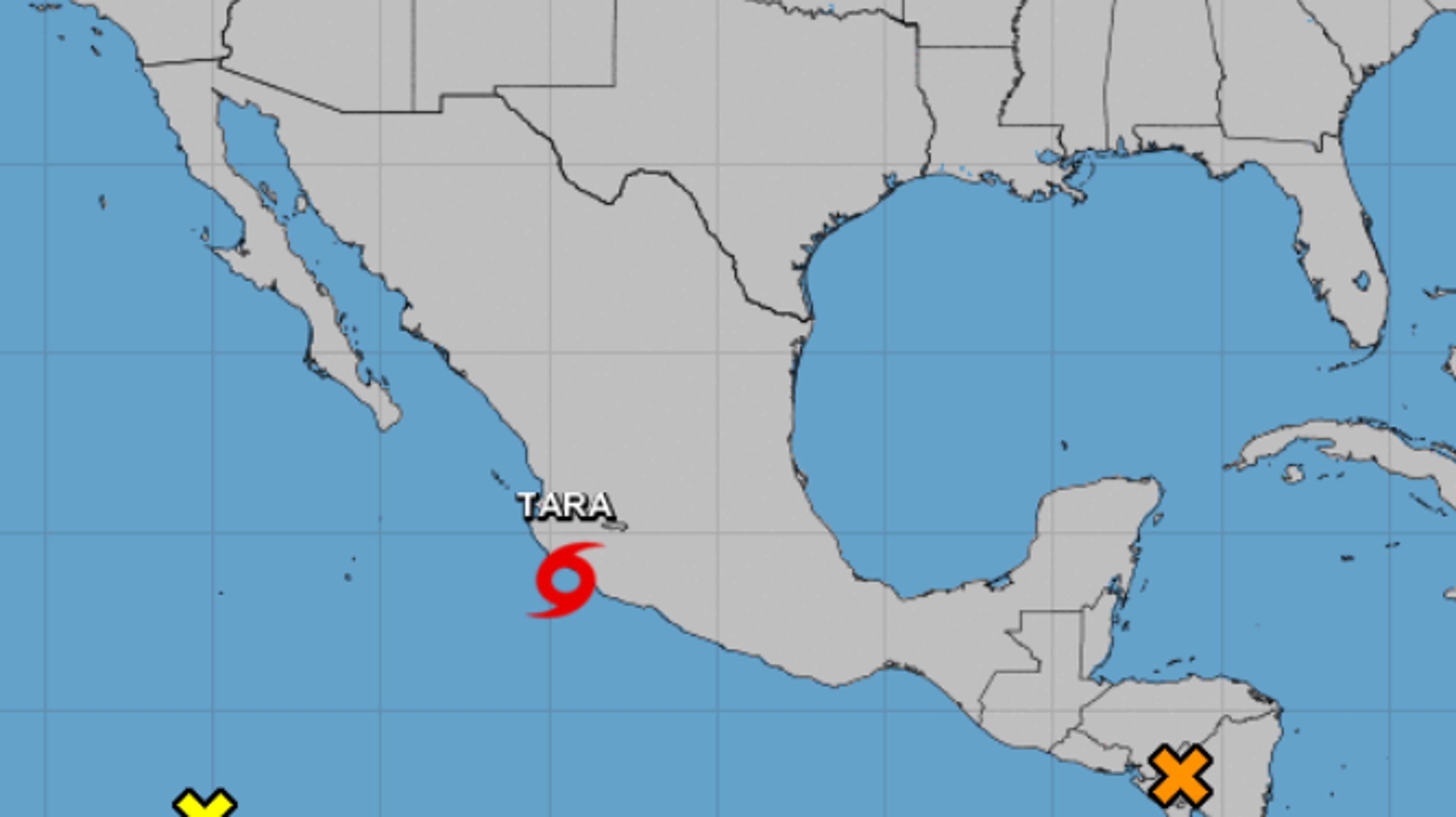 Honduras Mexico Map.Disturbance 1 Nears Honduras As Tropical Storm Tara Nears Mexico