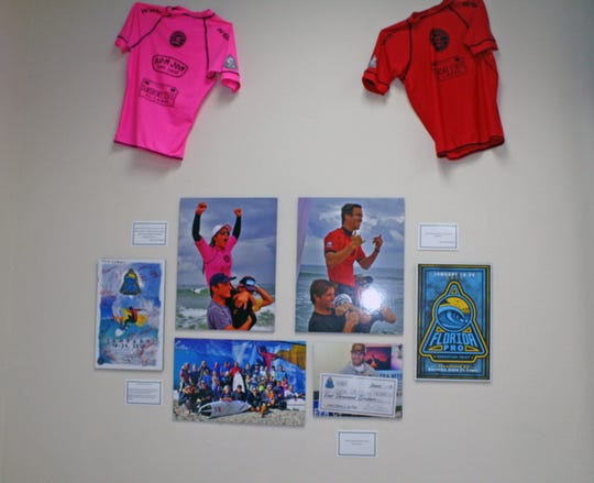 A display at the Surf Museum in Cocoa Beach.
