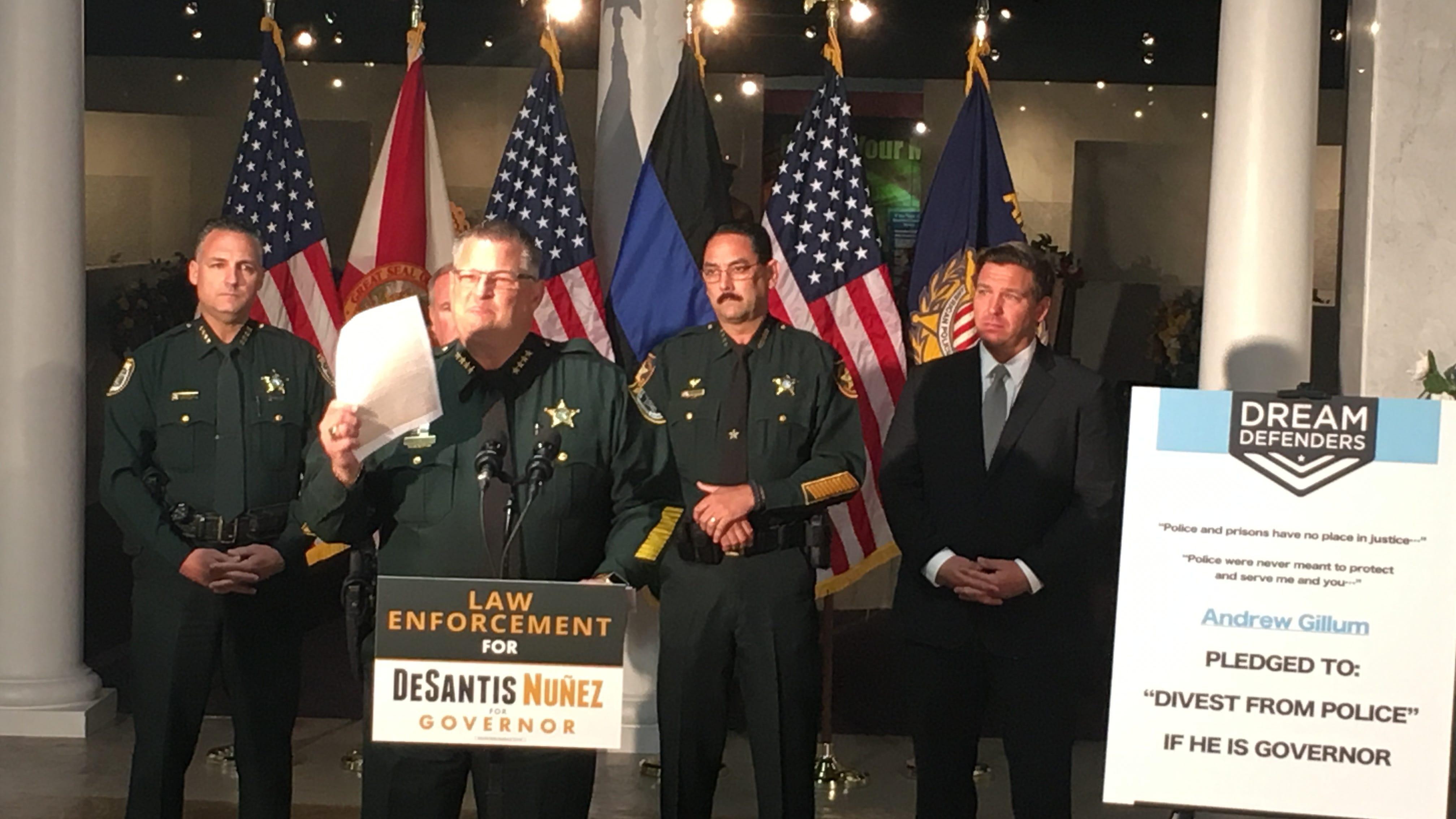 4 Florida sheriffs, including Brevard County's Wayne Ivey, back Ron DeSantis