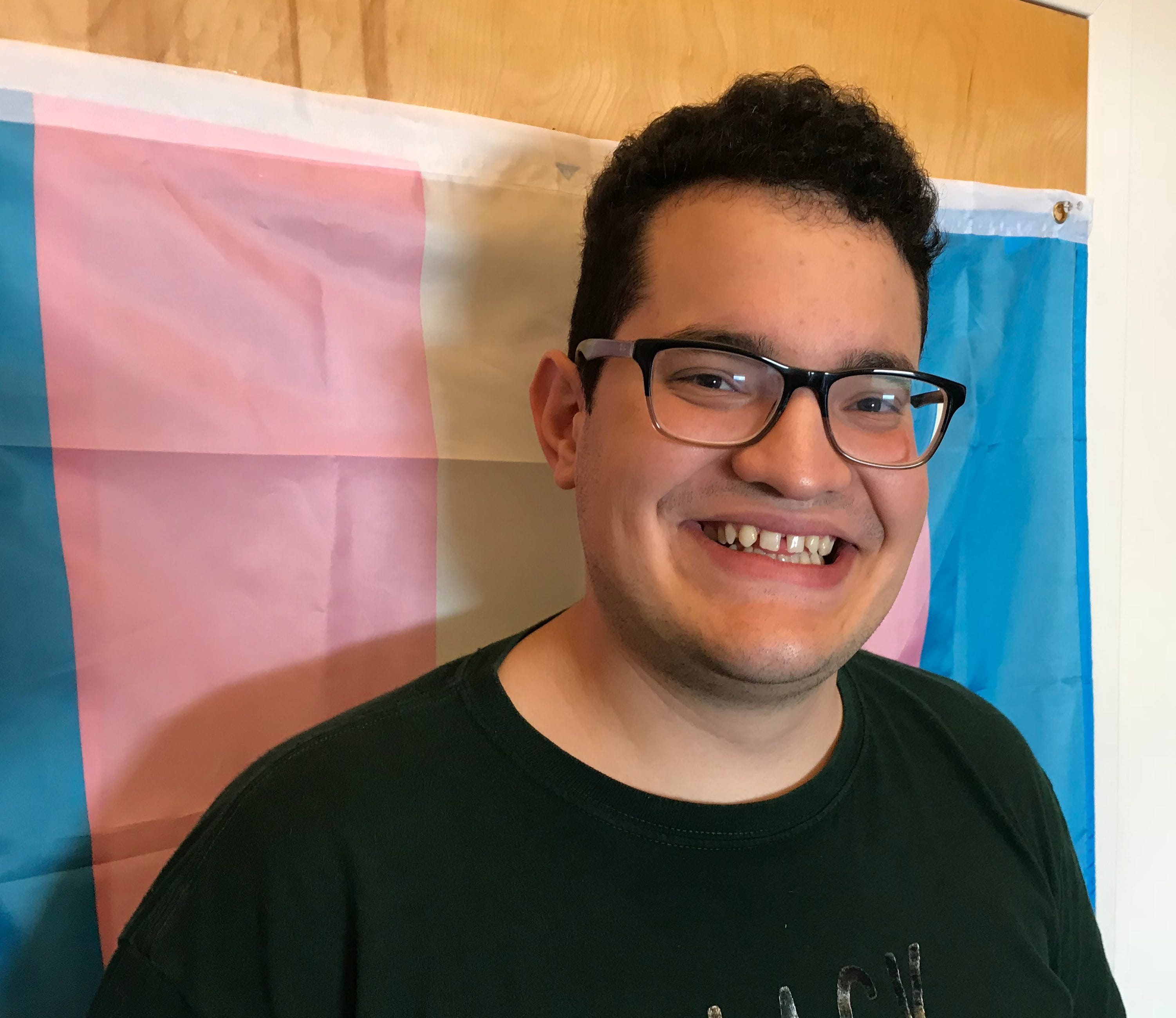 Pride Center Vermont's Transgender Program Coordinator Gustavo Mercado Muñiz spoke about how Christine Hallquist's campaign is inspiring to the entire community of transgender identities on Oct. 10, 2018.