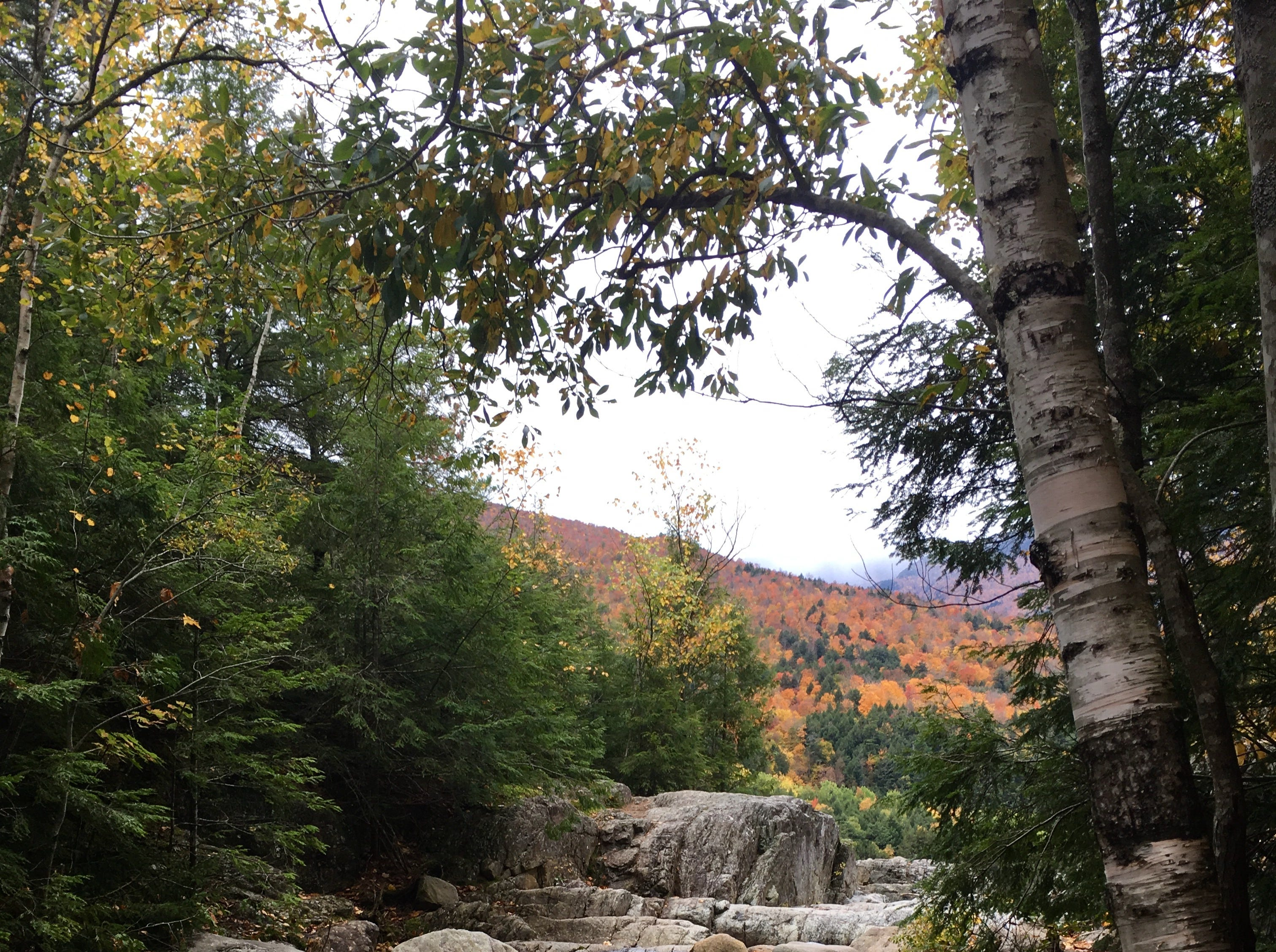 The top of Roaring Brook Falls in New York's Adirondack Park on Oct. 13, 2018.