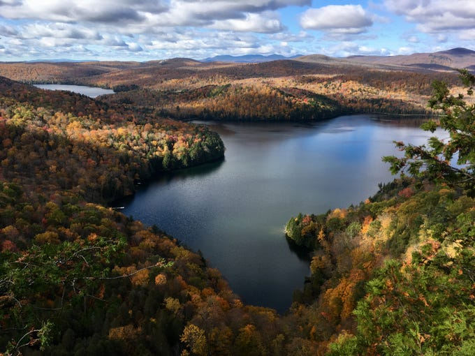 A fall view of Nichols Pond in Woodbury, photographed on Oct. 14, 2018.