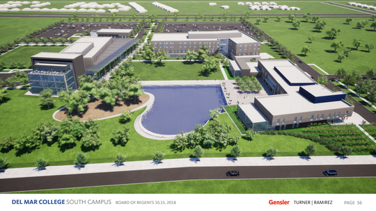 The latest schematic designs for Del Mar College's Southside expansion were presented to the board Oct. 16, 2018. Construction is slated to being summer of 2019 and move-in is scheduled for the fall of 2021.
