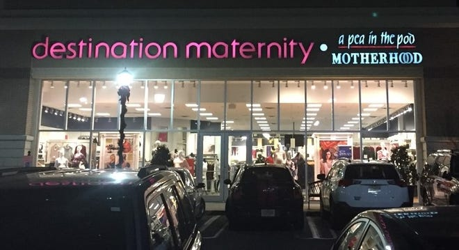 Destination Maternity has introduced a line of 'fashionable' gowns for women in labor and delivery.